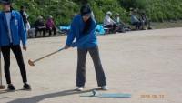 グラウンドゴルフ大会で地域交流