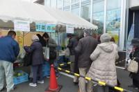 支店前で野菜市を開催!!